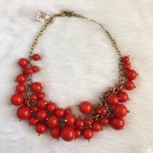 Red Orange Beaded Necklace